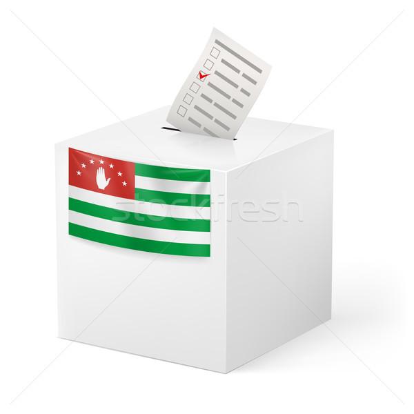 Ballot box with voting paper. Abkhazia Stock photo © dvarg