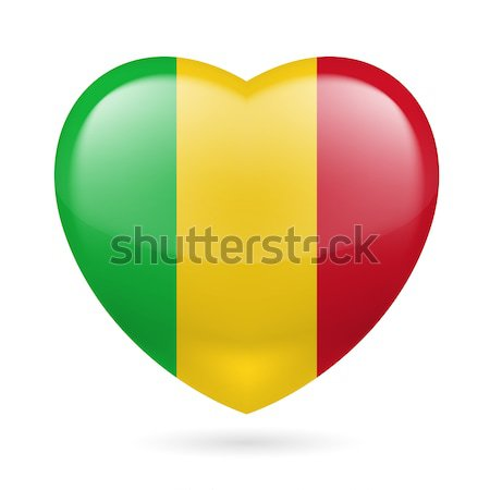 Heart icon of Mali Stock photo © dvarg
