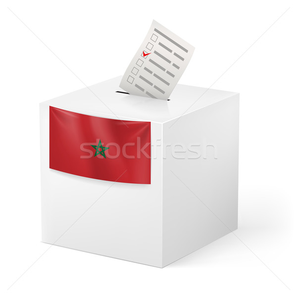 Ballot box with voicing paper. Morocco Stock photo © dvarg