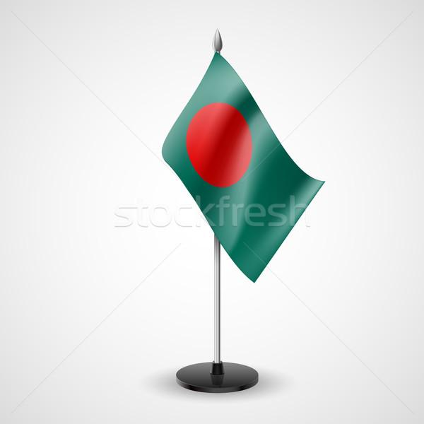 Asztal zászló Banglades világ konferencia asztal Stock fotó © dvarg