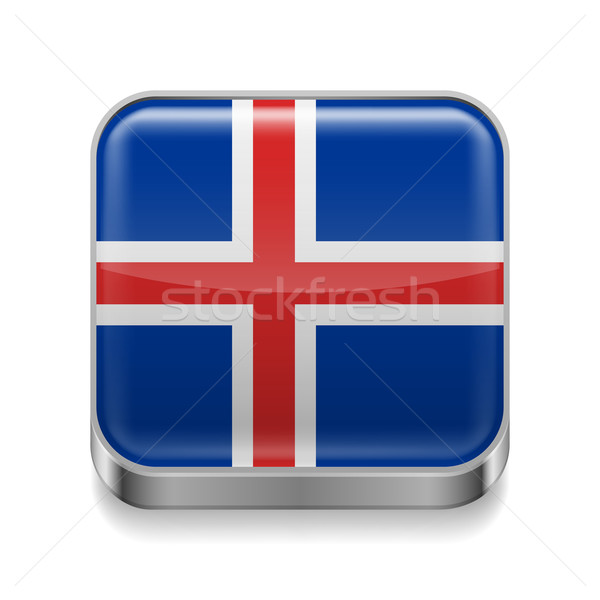 Metal  icon of Iceland Stock photo © dvarg