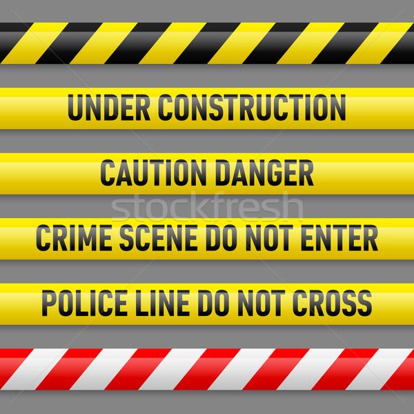 Set of danger tapes Stock photo © dvarg