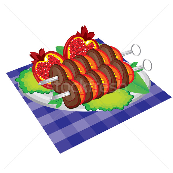 Set of appetite grilled meat and vegetables.  Stock photo © dvarg
