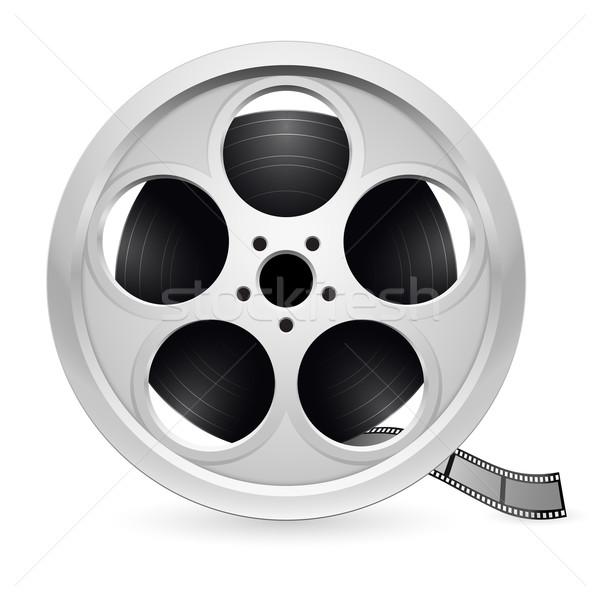 Gerçekçi film örnek beyaz televizyon Stok fotoğraf © dvarg