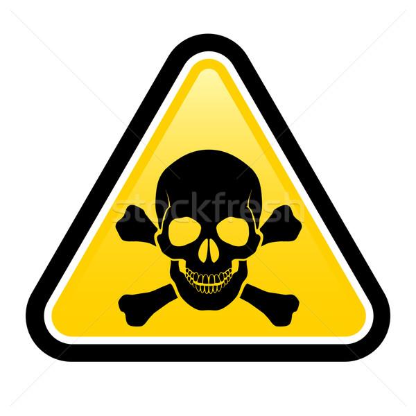 Skull danger signs Stock photo © dvarg