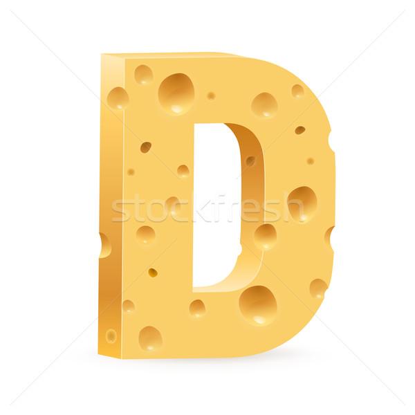 Schreiben Käse Schriftart Illustration weiß Textur Stock foto © dvarg
