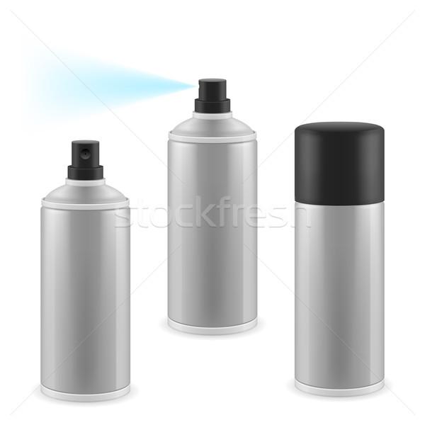 Stock fotó: Három · spray · kettő · kinyitott · egy · zárva