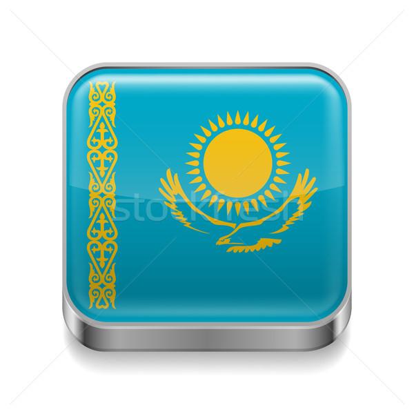 Metal  icon of Kazakhstan Stock photo © dvarg