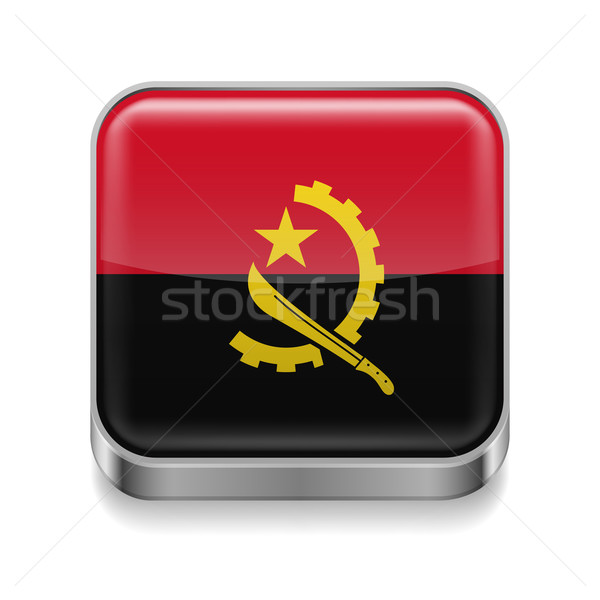 Metal  icon of Angola Stock photo © dvarg