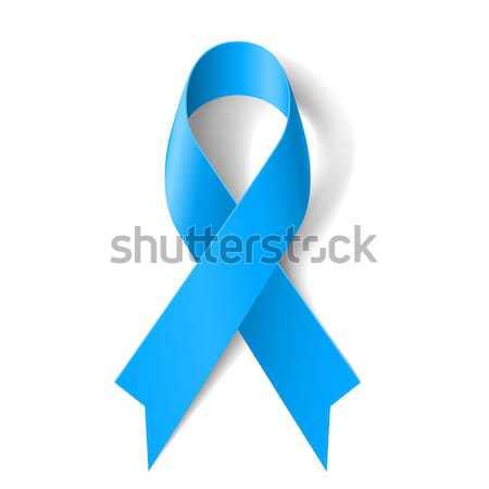 Azzurro nastro simbolo prostata cancro consapevolezza Foto d'archivio © dvarg