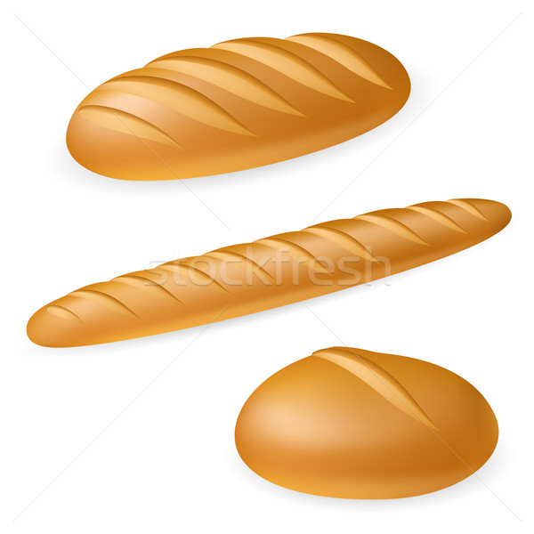 Three realistic bread Stock photo © dvarg