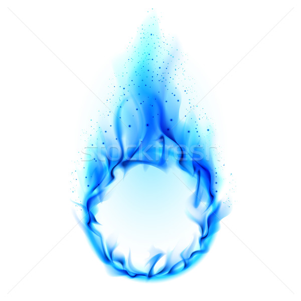 Blue ring of Fire Stock photo © dvarg