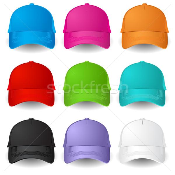 Set of Baseball caps Stock photo © dvarg