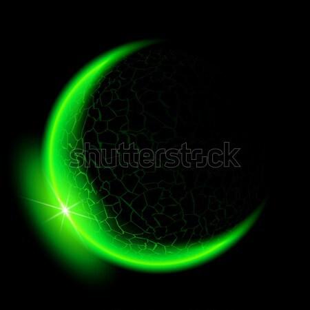 Green crescent. Stock photo © dvarg