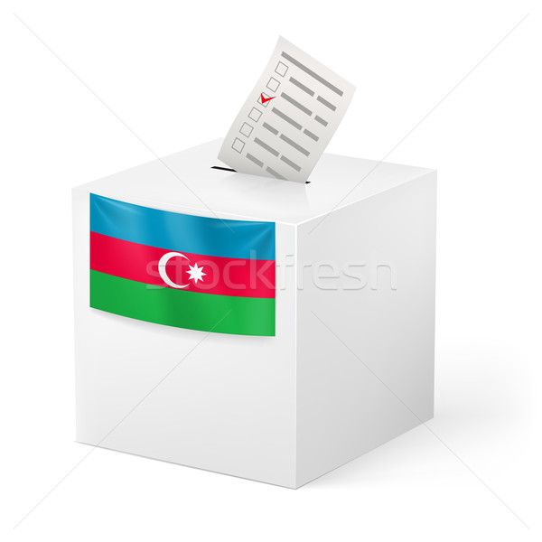 Votación cuadro papel Azerbaiyán elecciones Foto stock © dvarg