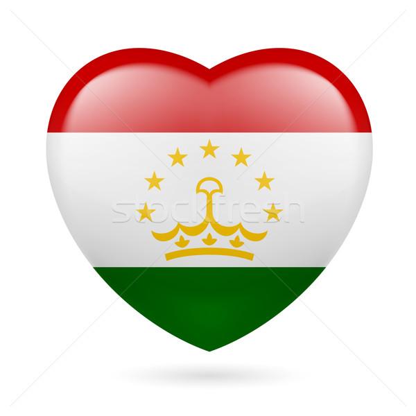 Heart icon of Tajikistan Stock photo © dvarg