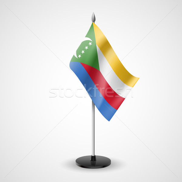Table flag of Comoros Stock photo © dvarg