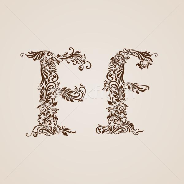 Decorated letter f Stock photo © dvarg