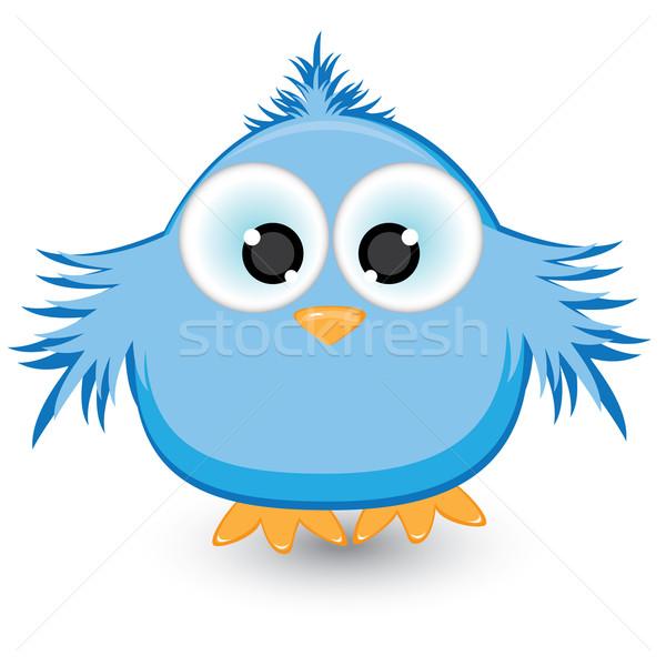 Desenho animado azul pardal ilustração branco natureza Foto stock © dvarg