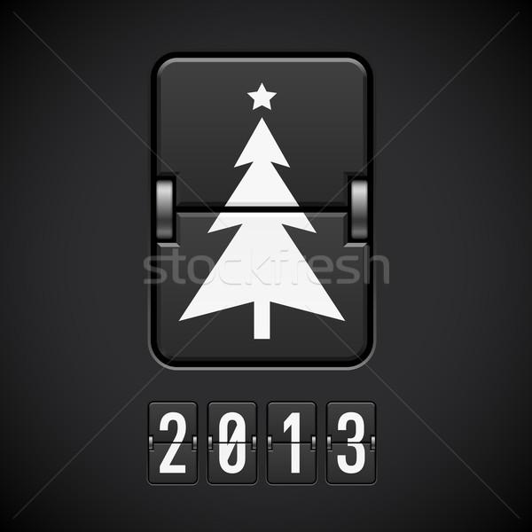 Scorebord kerstboom illustratie ontwerper computer boom Stockfoto © dvarg