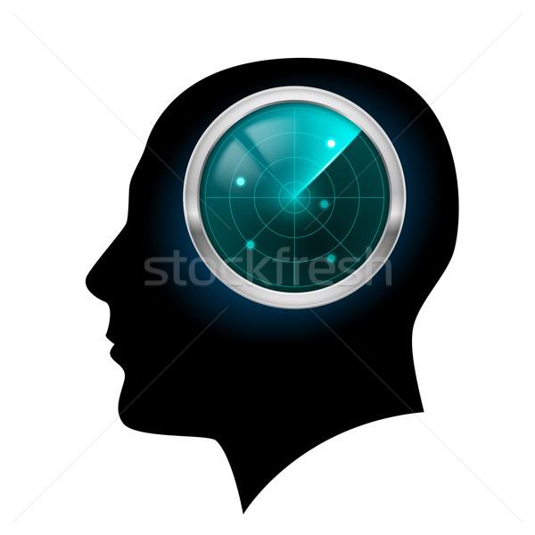 Man head silhouette Stock photo © dvarg