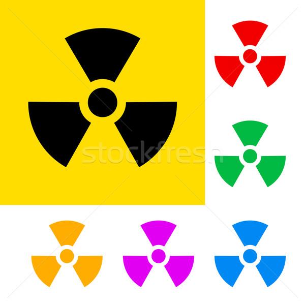 Bestraling kleur wetenschap zwarte chemie Stockfoto © dvarg