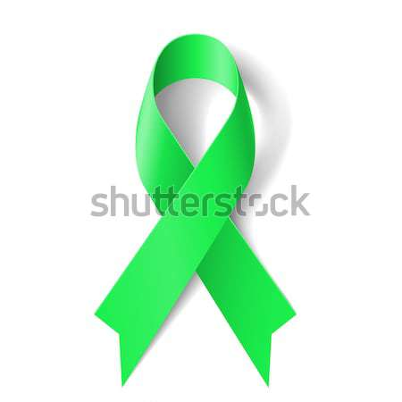 Green ribbon. Stock photo © dvarg