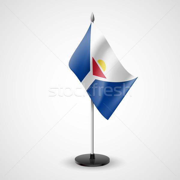 Table flag of Saint Martin Stock photo © dvarg