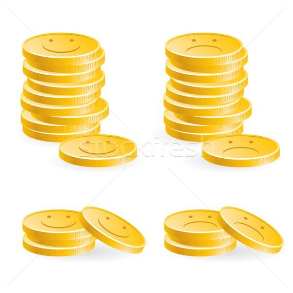 Golden coins Stock photo © dvarg
