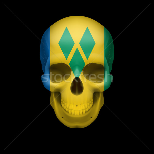 Saint Vincent and the Grenadines flag skull Stock photo © dvarg