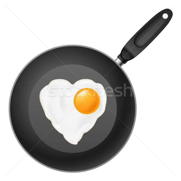 Frying pan with egg Stock photo © dvarg