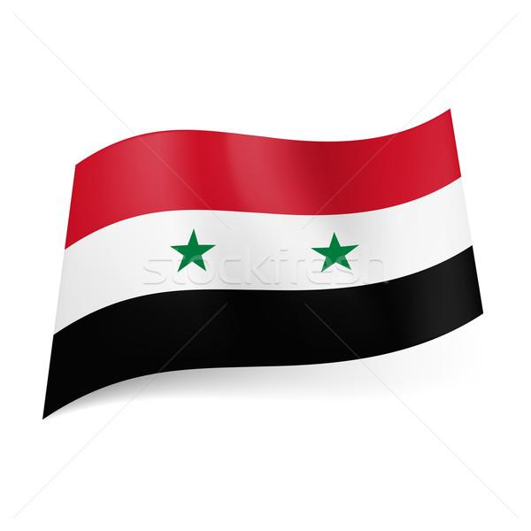 Vlag Syrië Rood witte zwarte horizontaal Stockfoto © dvarg