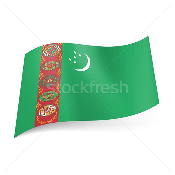State flag of Turkmenistan Stock photo © dvarg