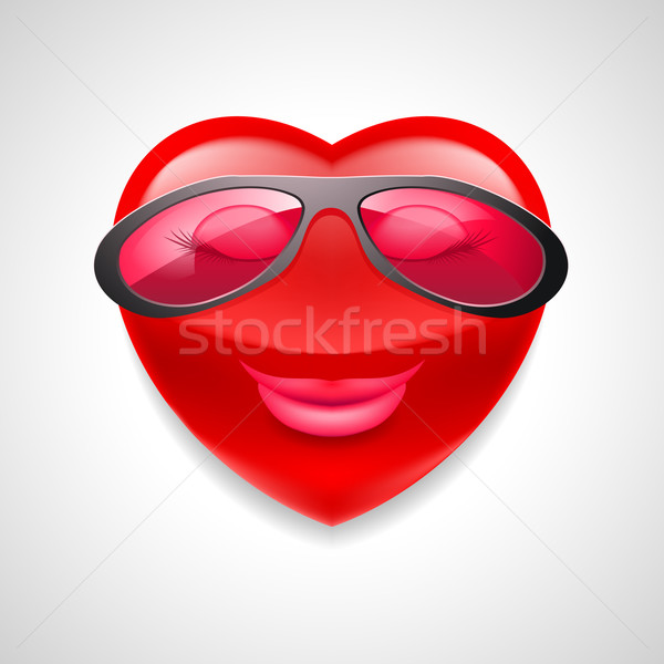中心 文字 グラマラス 女性 眼鏡 ストックフォト © dvarg