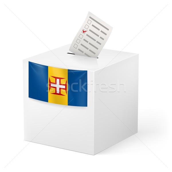 Cédula caixa votação papel madeira eleição Foto stock © dvarg