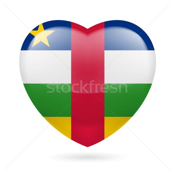 сердце икона центральный африканских республика любви Сток-фото © dvarg