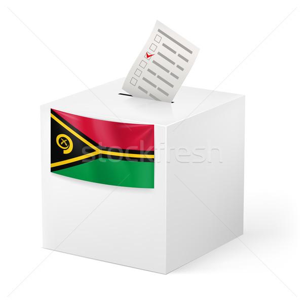 Szavazócédula doboz szavazás papír Vanuatu választás Stock fotó © dvarg