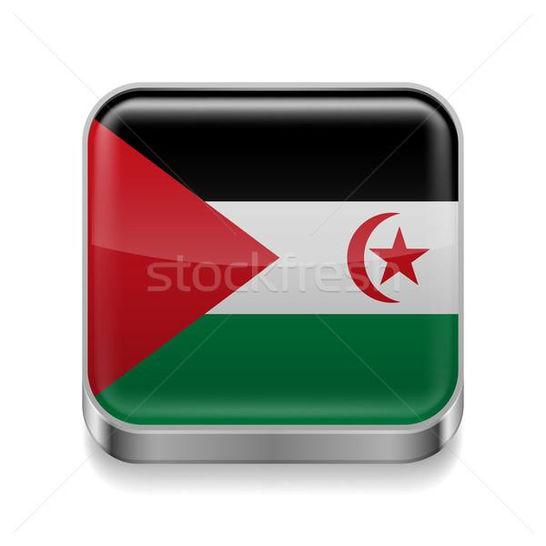 Metal ikona Emiraty demokratyczny republika placu Zdjęcia stock © dvarg