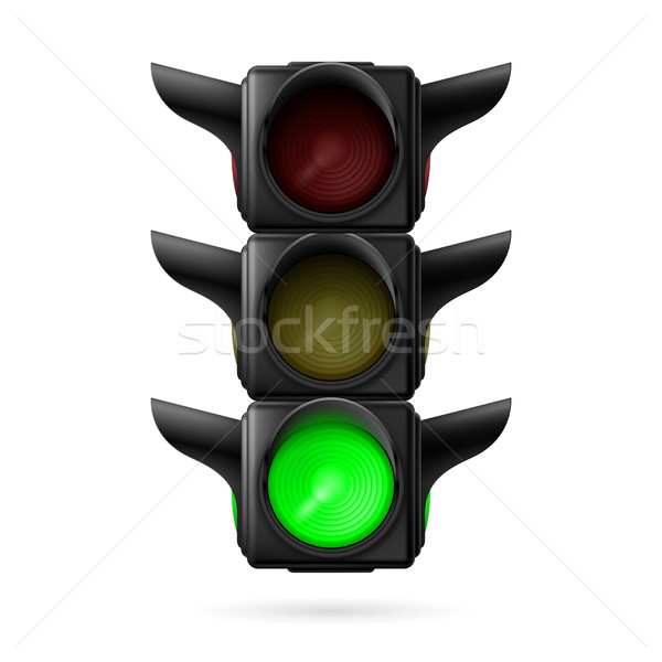 Traffic light with green lamp Stock photo © dvarg