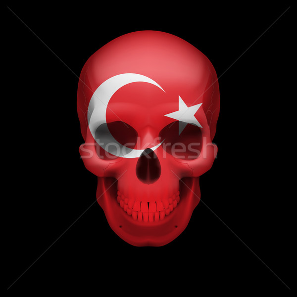 Turkish flag skull Stock photo © dvarg