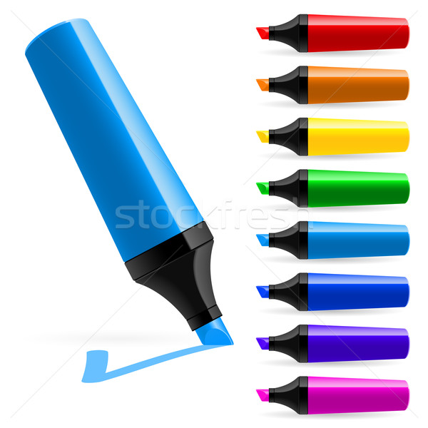 Realistic multi-colored markers Stock photo © dvarg