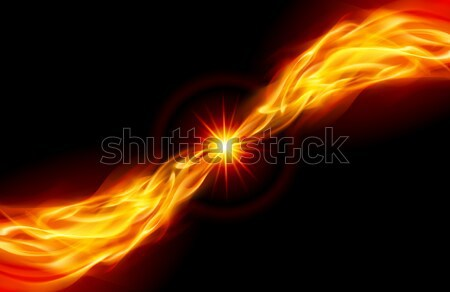 Bright fiery Star Stock photo © dvarg