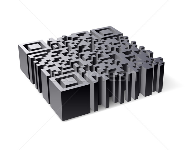 3D QR Code Stock photo © dvarg