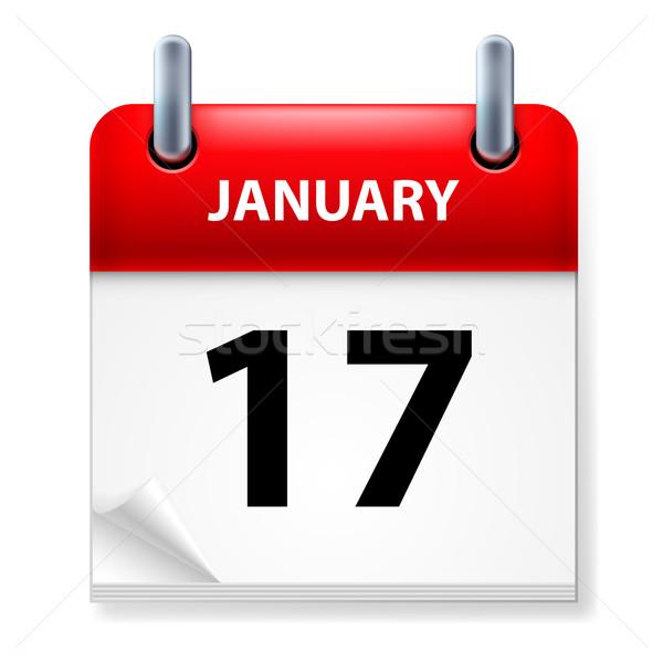 Kalendarza ikona biały papieru projektu podpisania Zdjęcia stock © dvarg