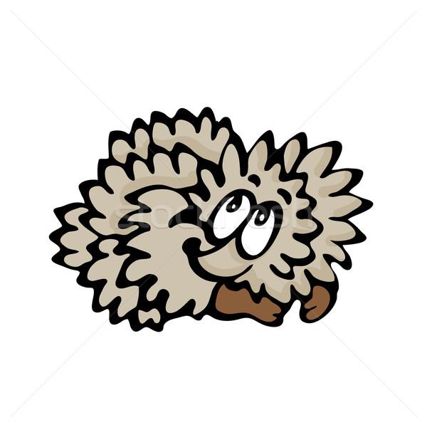 Funny cartoon hedgehog Stock photo © dvarg
