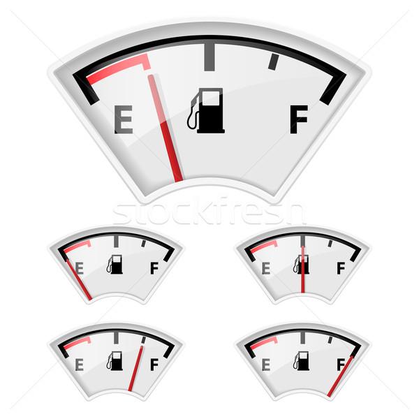 Paliwa wskaźnik zestaw inny benzyny ilość Zdjęcia stock © dvarg