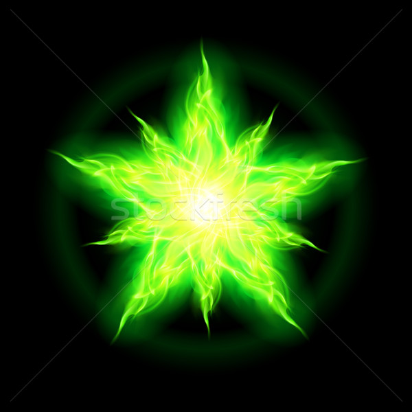 Green fire star.  Stock photo © dvarg