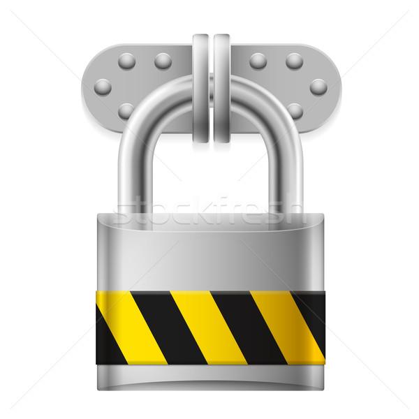 Metal padlock Stock photo © dvarg