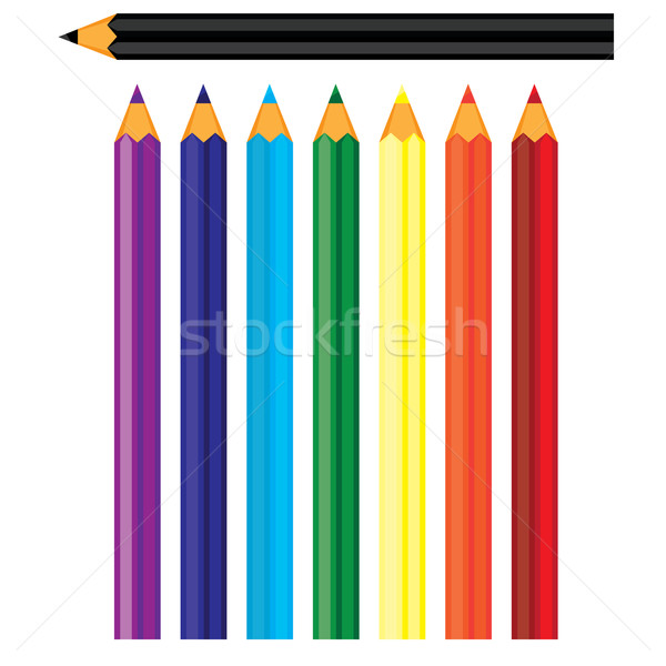 Coloured pencils Stock photo © dvarg