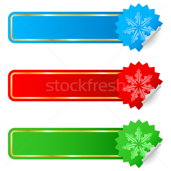 Colored labels selling the new year Stock photo © dvarg